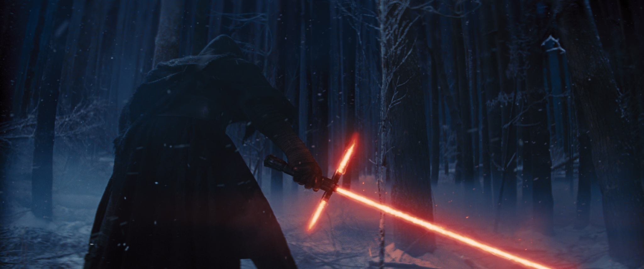 A mysterious figure as seen in the Star Wars: The Force Awakens