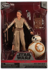 Rey and BB-8 Elite Series Die Cast Action Figures - 6''